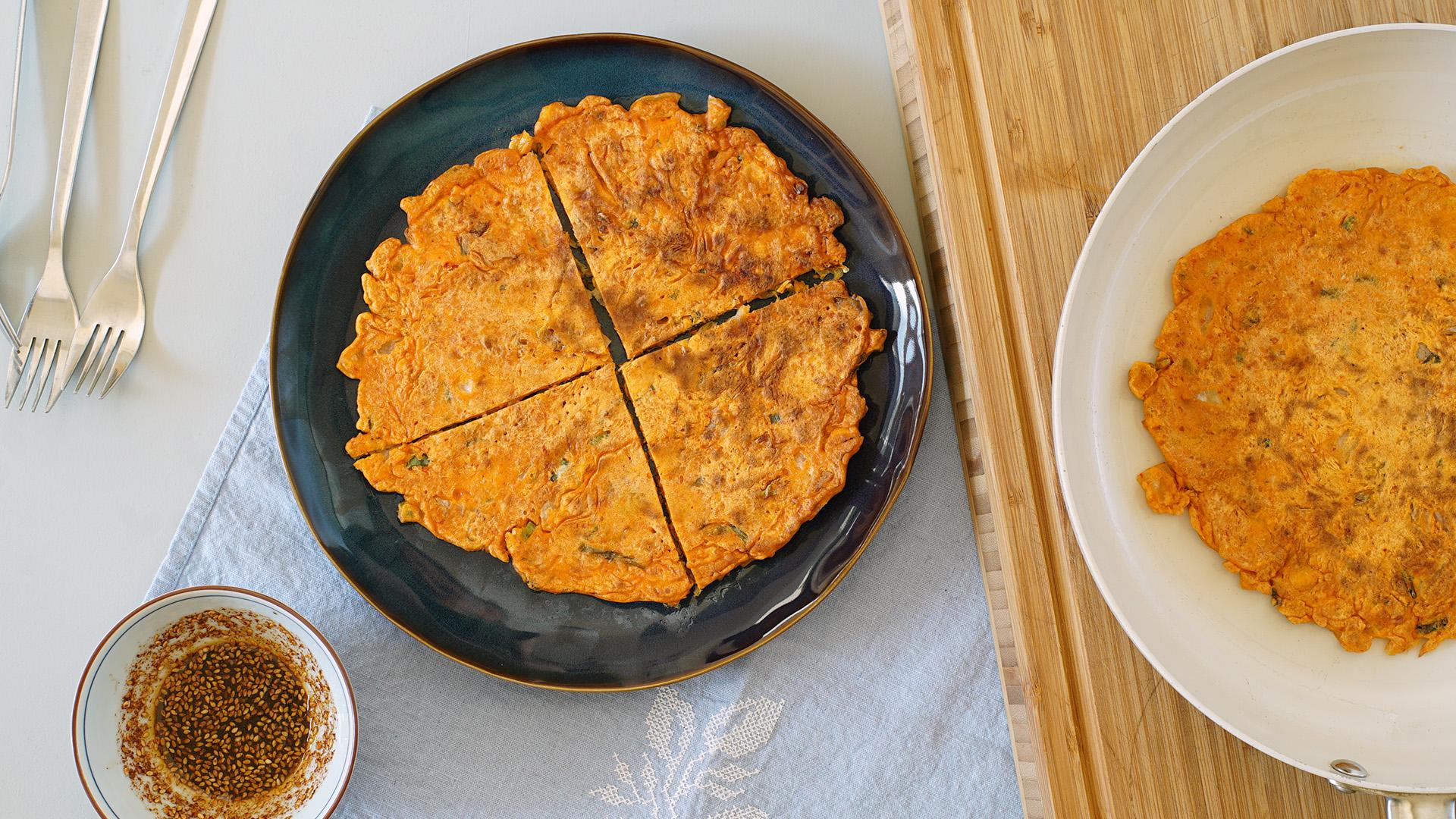 Kimchi Jun (Kimchi Pancake) and Dipping Sauce Adine Lee