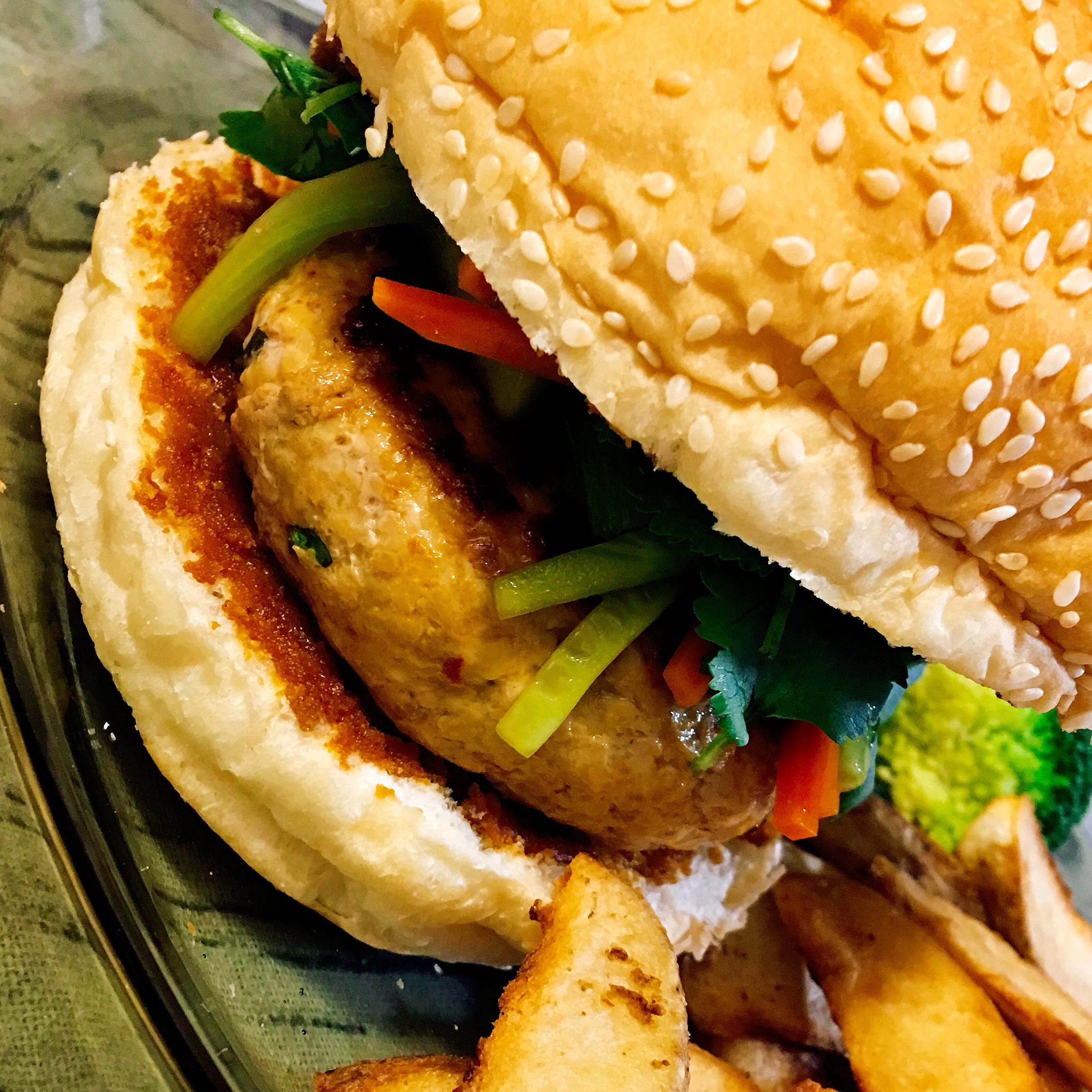 Chef John's Chicken Satay Burger Vanessa Martens