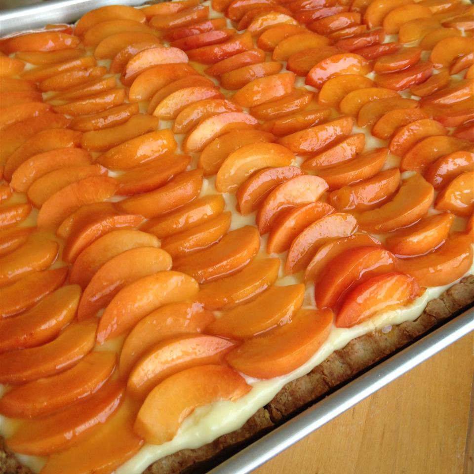 Tieton Apricot Tart with Basil Custard