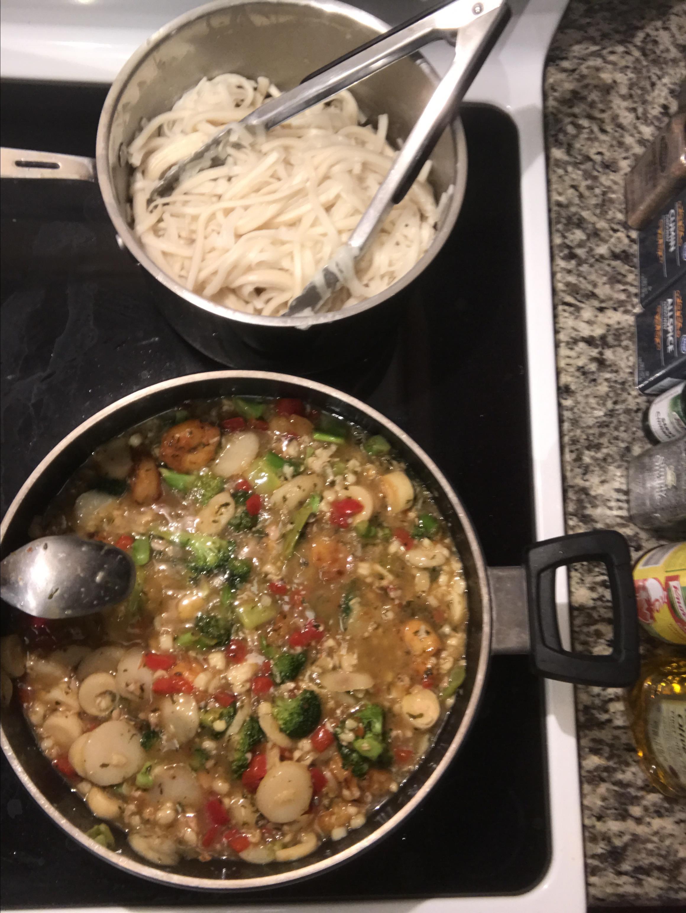 Shrimp Stir Fry With Egg Noodles Olivia Sipka