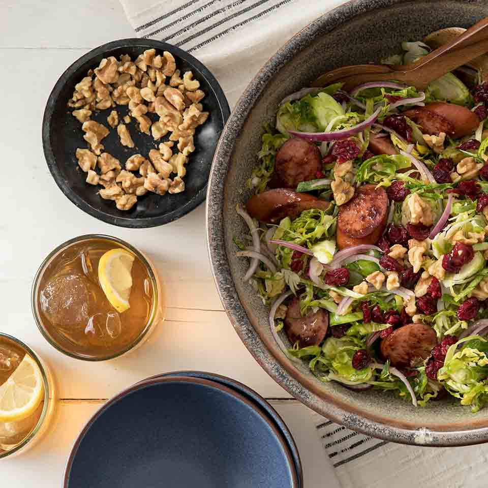Hillshire Farm® Smoked Sausage and Brussels Sprout Salad