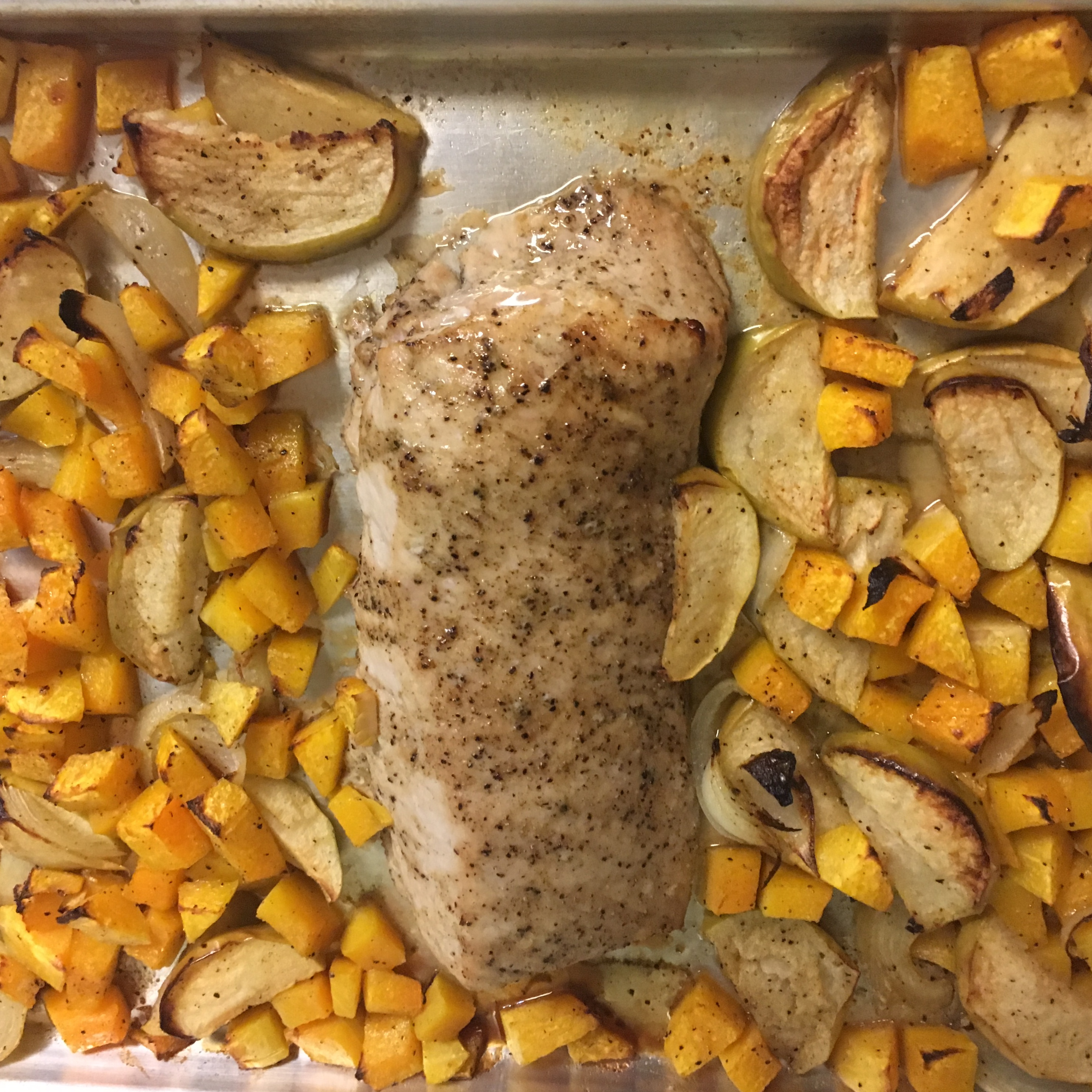 Easy One-Pan Pork and Squash Dinner