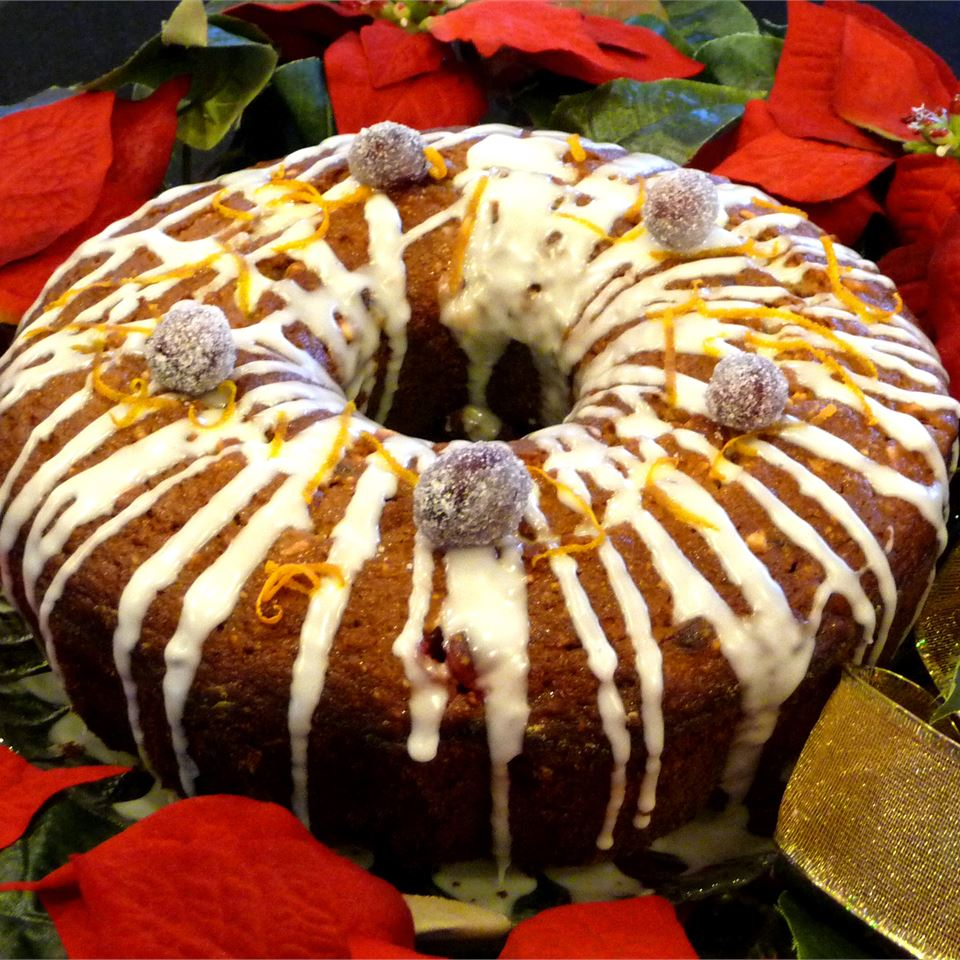 Olive Oil Cranberry Bundt Cake