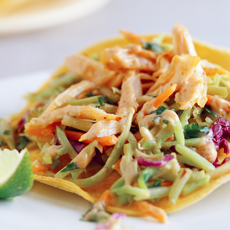 Chicken and Slaw Tostadas Diabetic Living Magazine