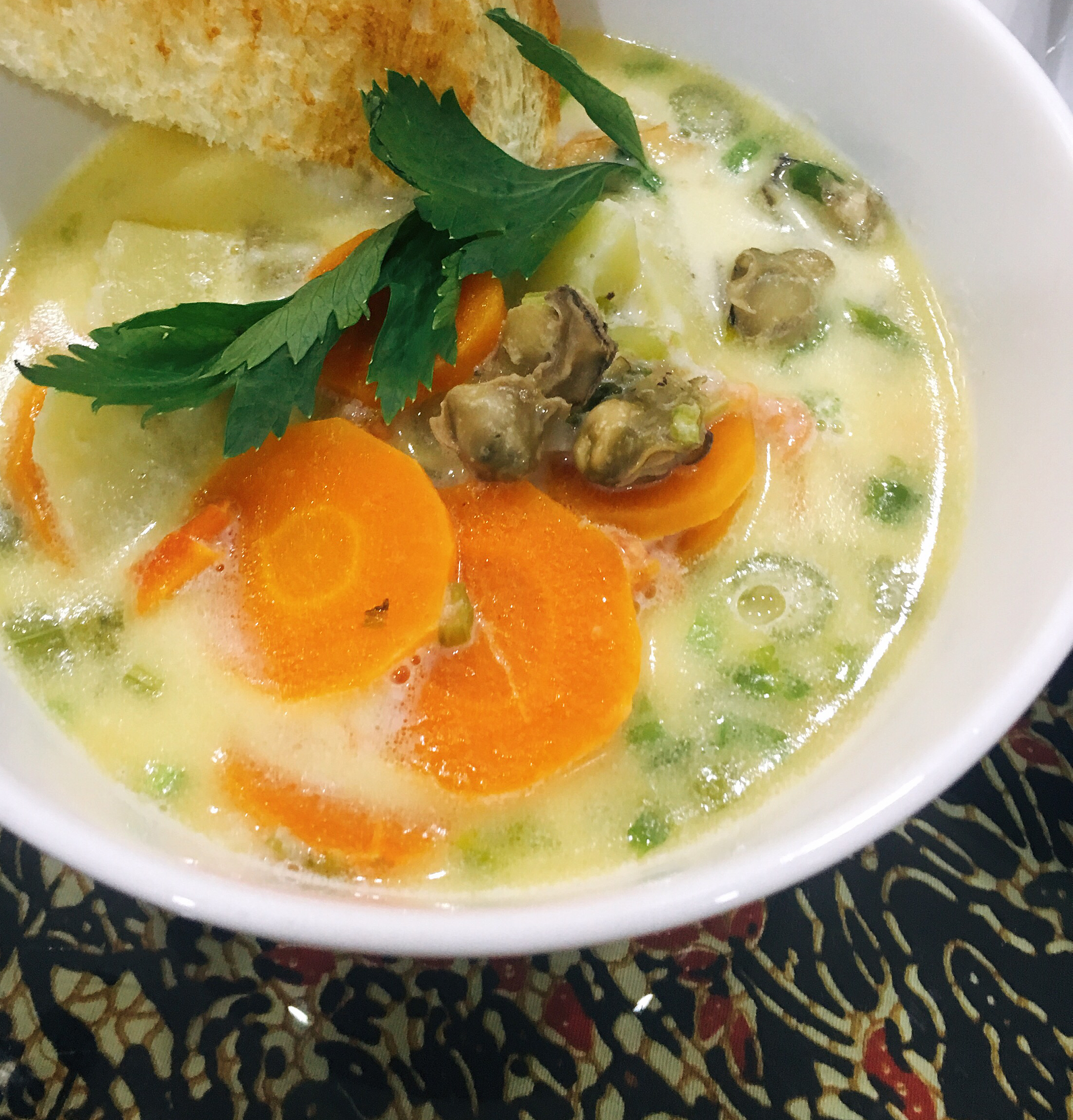 Oyster Stew with Evaporated Milk
