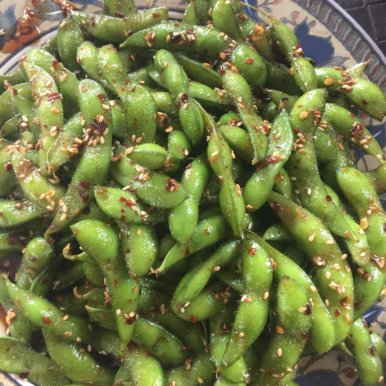 Szechuan Edamame (Soy Beans) chantelle