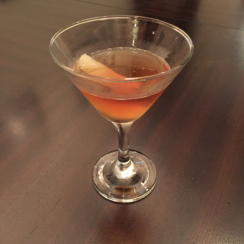 Pear Manhattan Cocktail