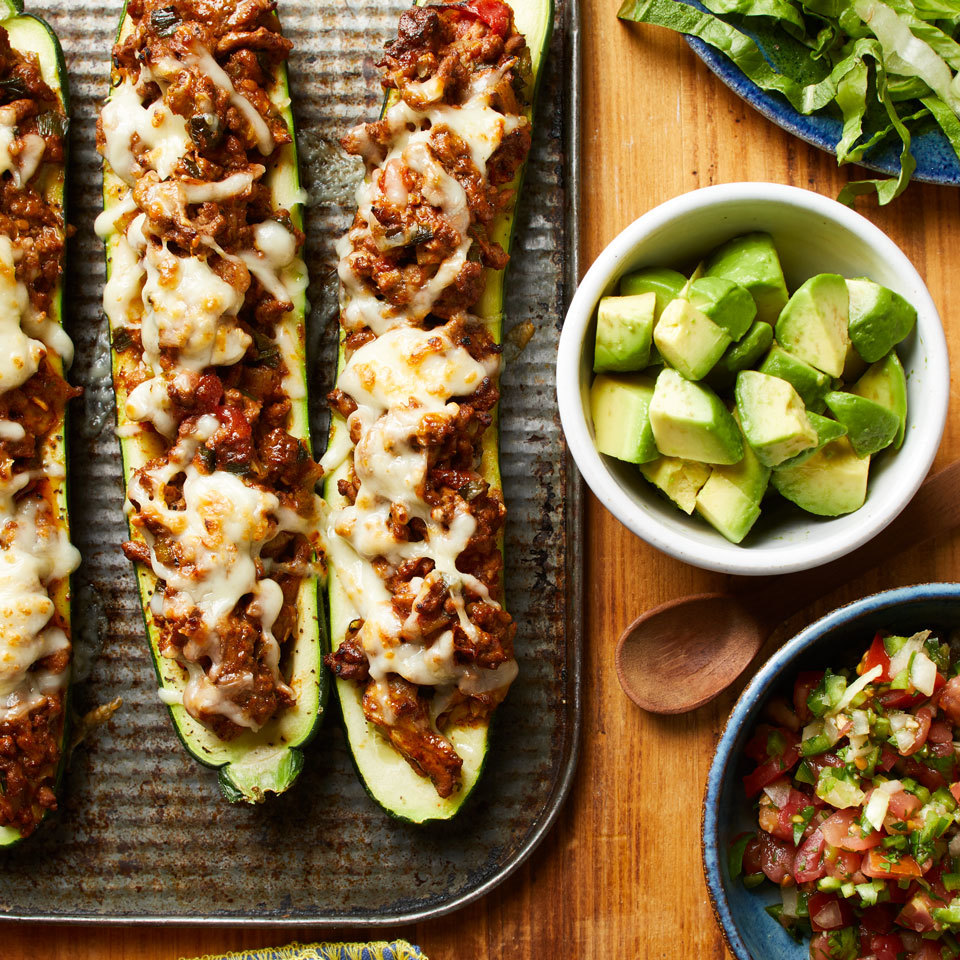 Taco-Stuffed Zucchini Carolyn Casner