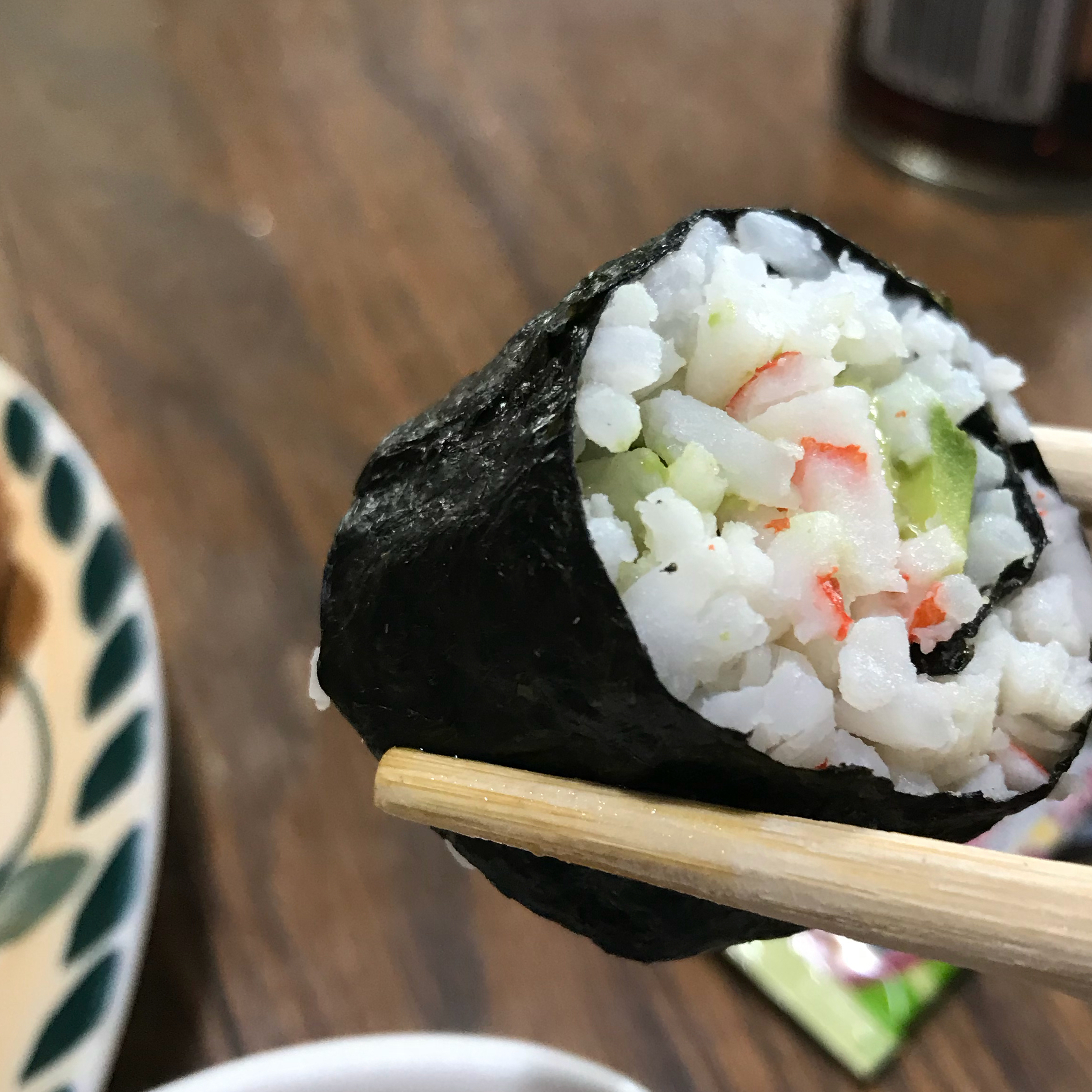 "A little rice vinegar is the key to good sushi rice. ""Sushi can be filled with any ingredients you choose,"" says 1ORANGE1. ""Try smoked salmon instead of imitation crabmeat. Serve with teriyaki sauce and wasabi."""