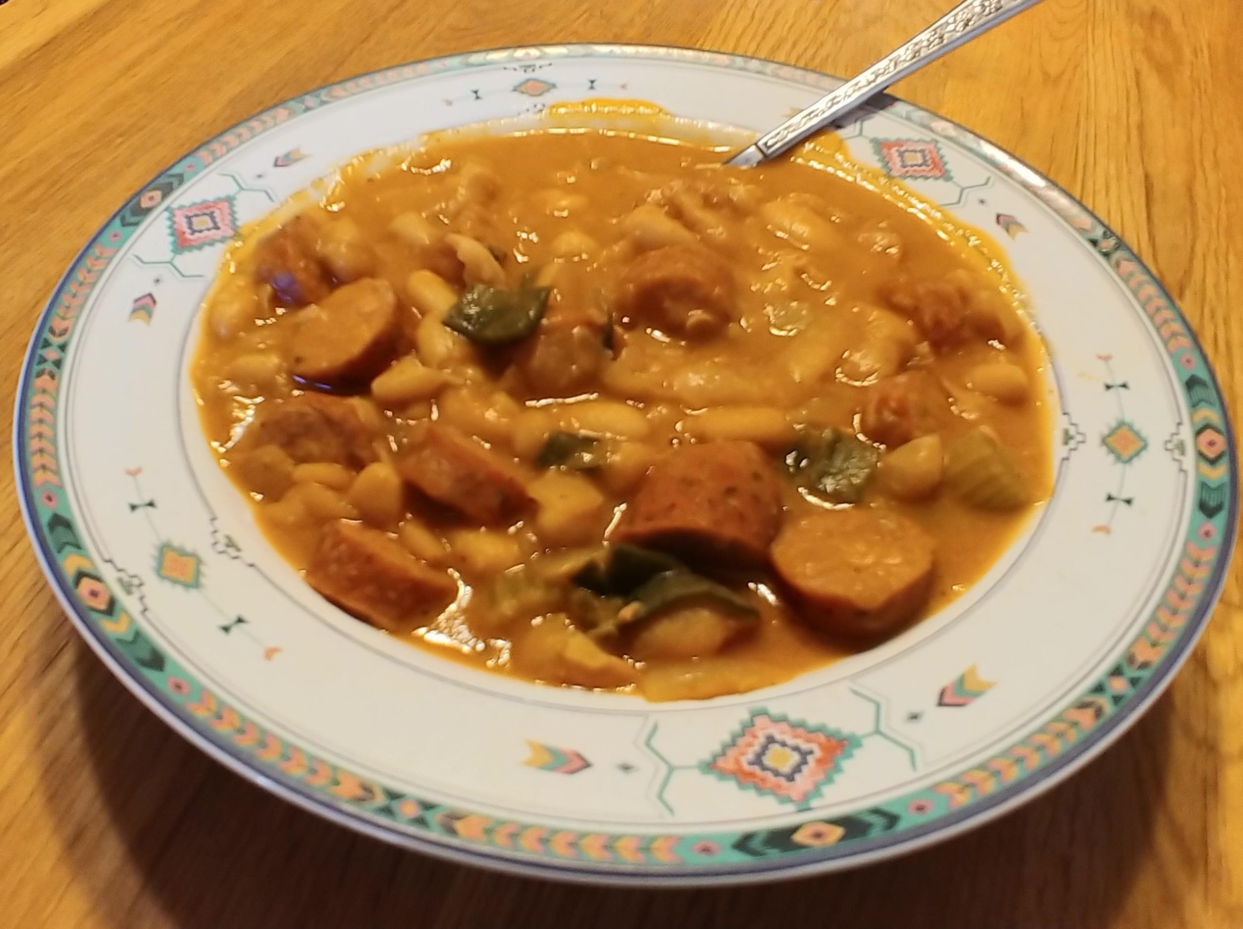 Billionaire's Franks and Beans Soup is it