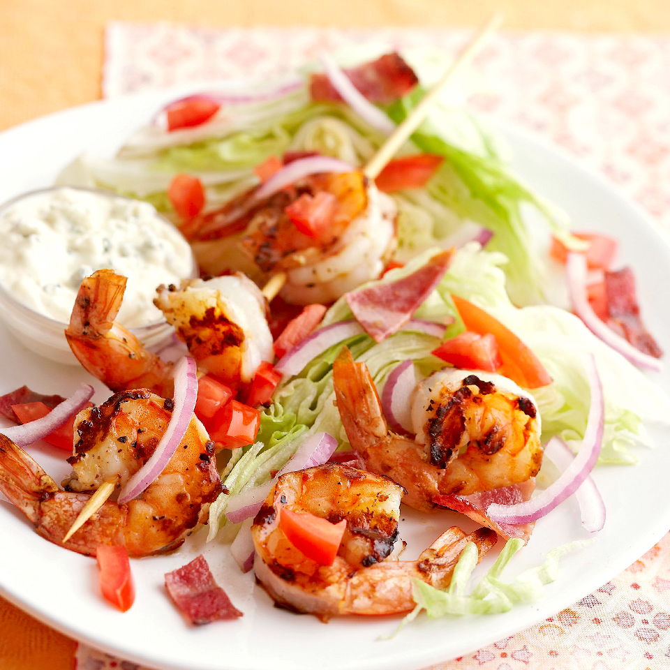 Iceberg Wedges with Shrimp and Blue Cheese Dressing Diabetic Living Magazine