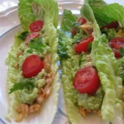 "Fish Tacos in Lettuce ""Shells"""