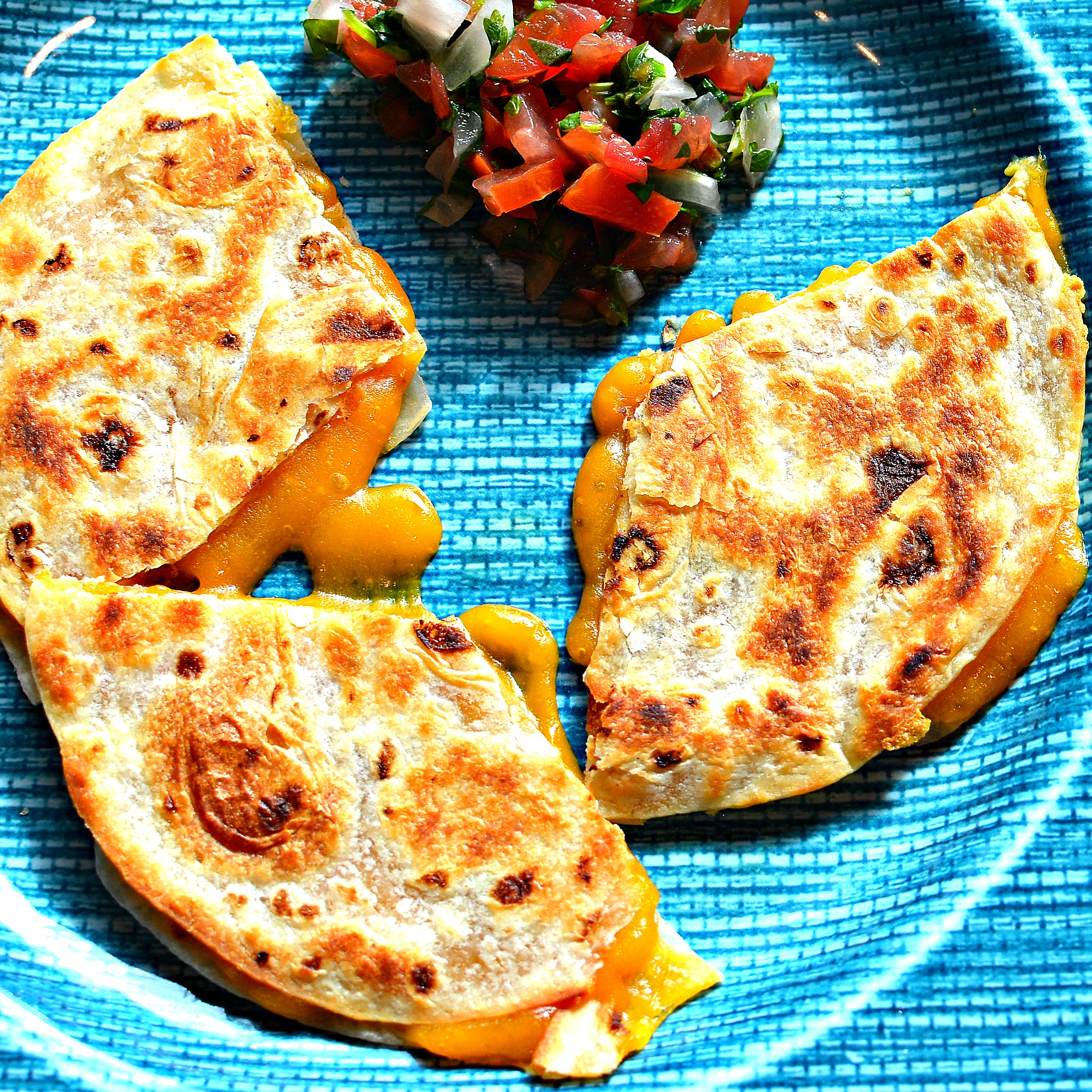 2 Minute Cheese Quesadillas