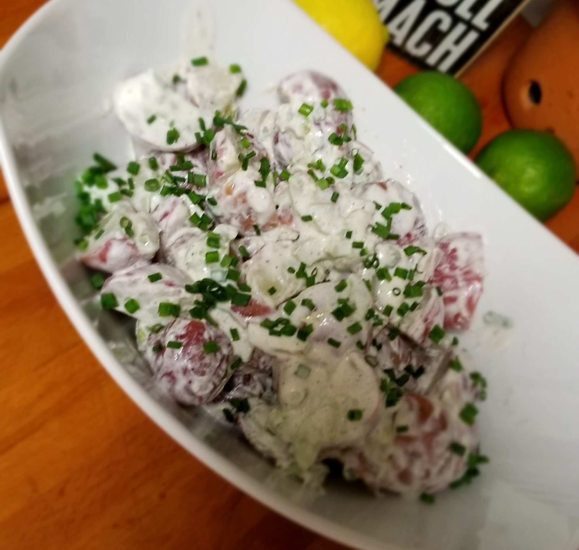 Lemony Creamy Potato Salad with Sour Cream