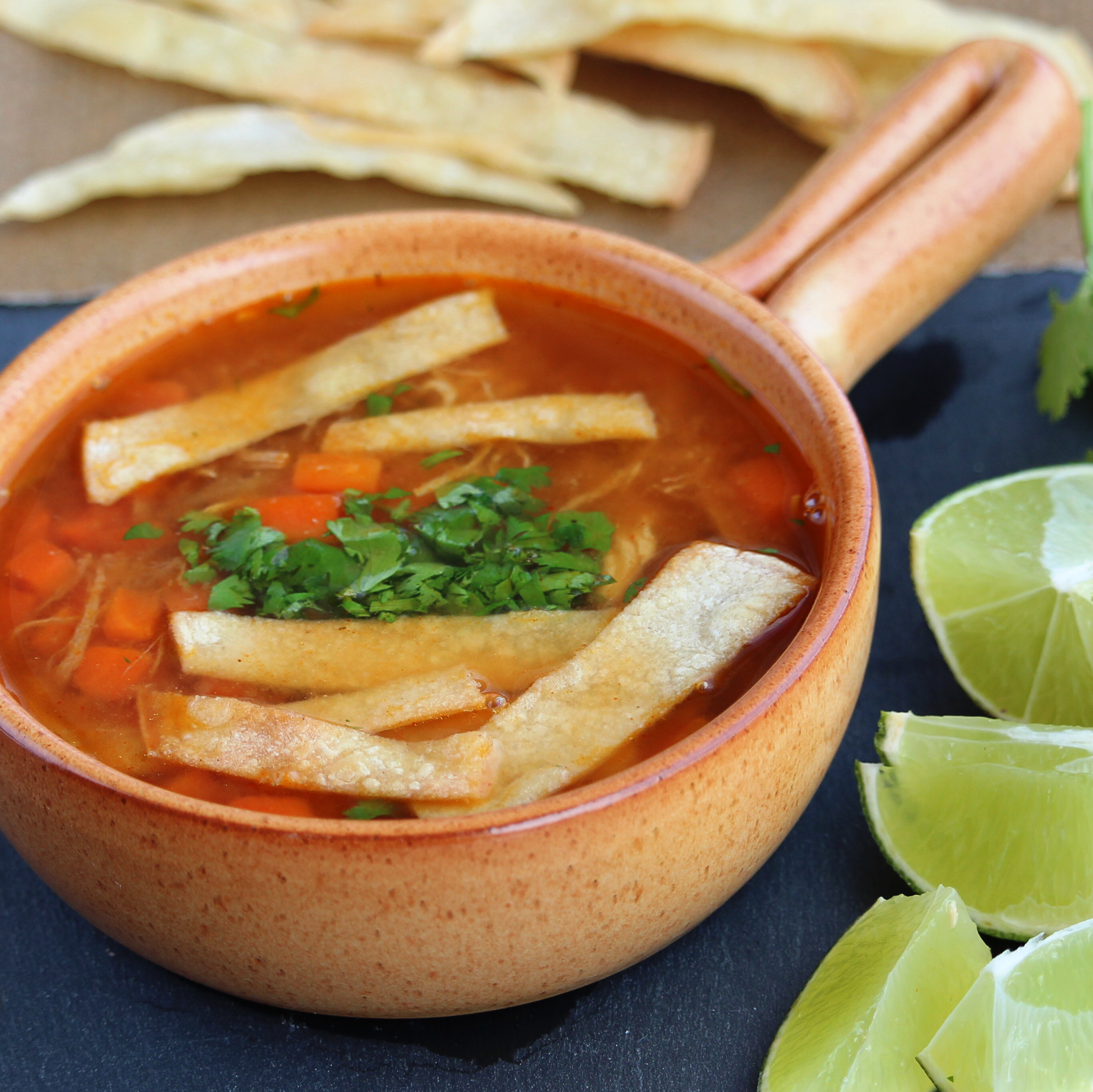 Quick and Easy Chicken Tortilla Soup Buckwheat Queen
