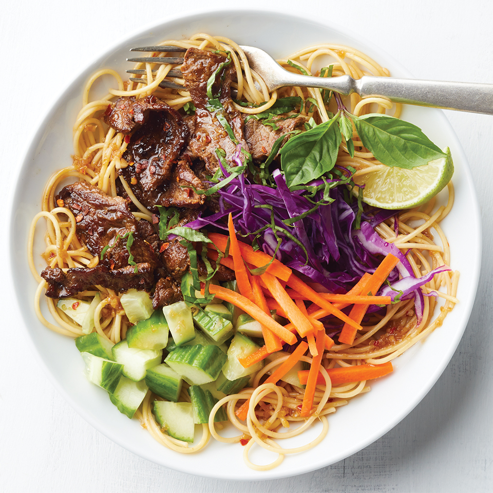 Asian Beef Noodle Bowls Diabetic Living Magazine