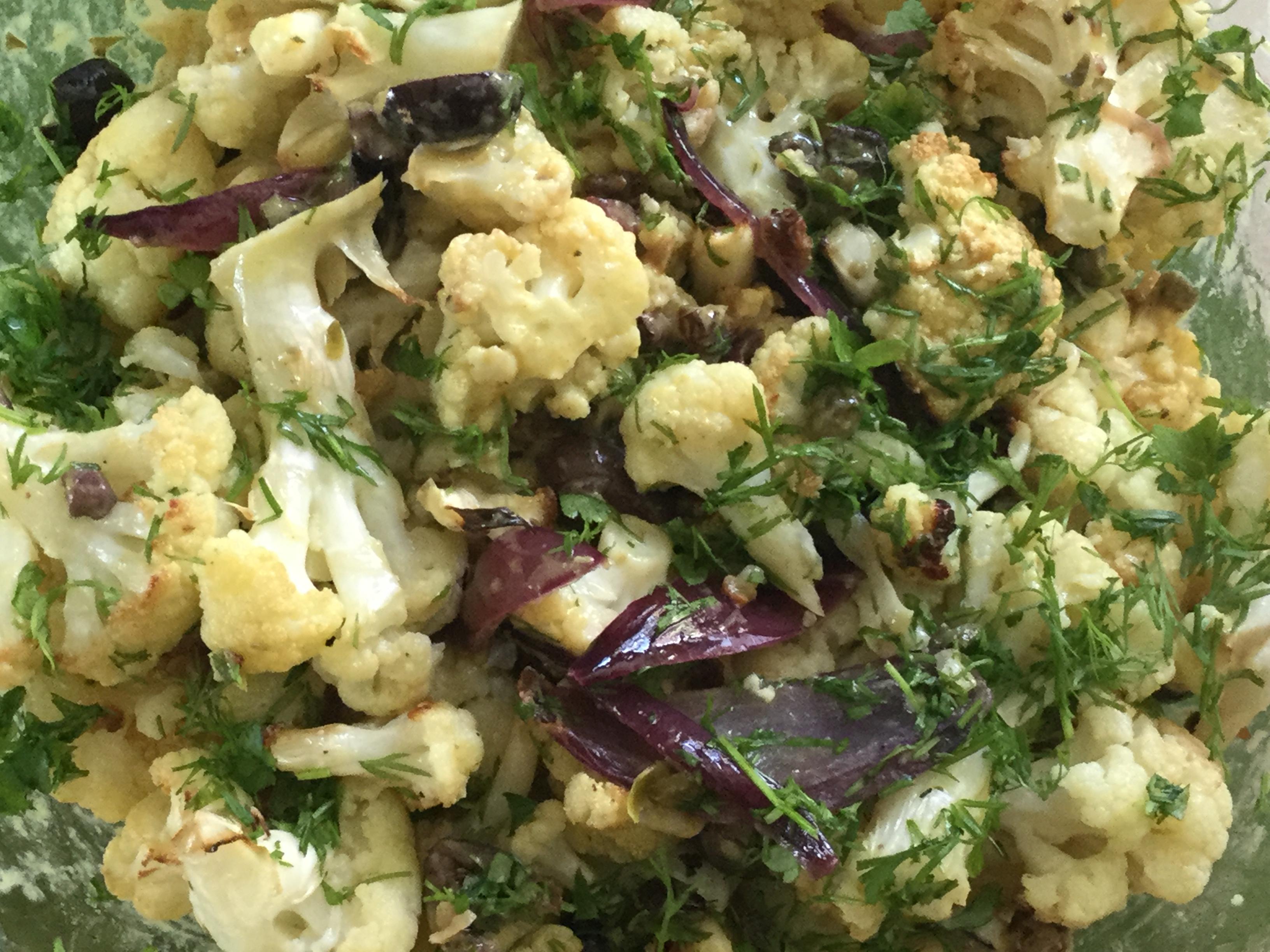 Vegan Roasted Cauliflower Salad