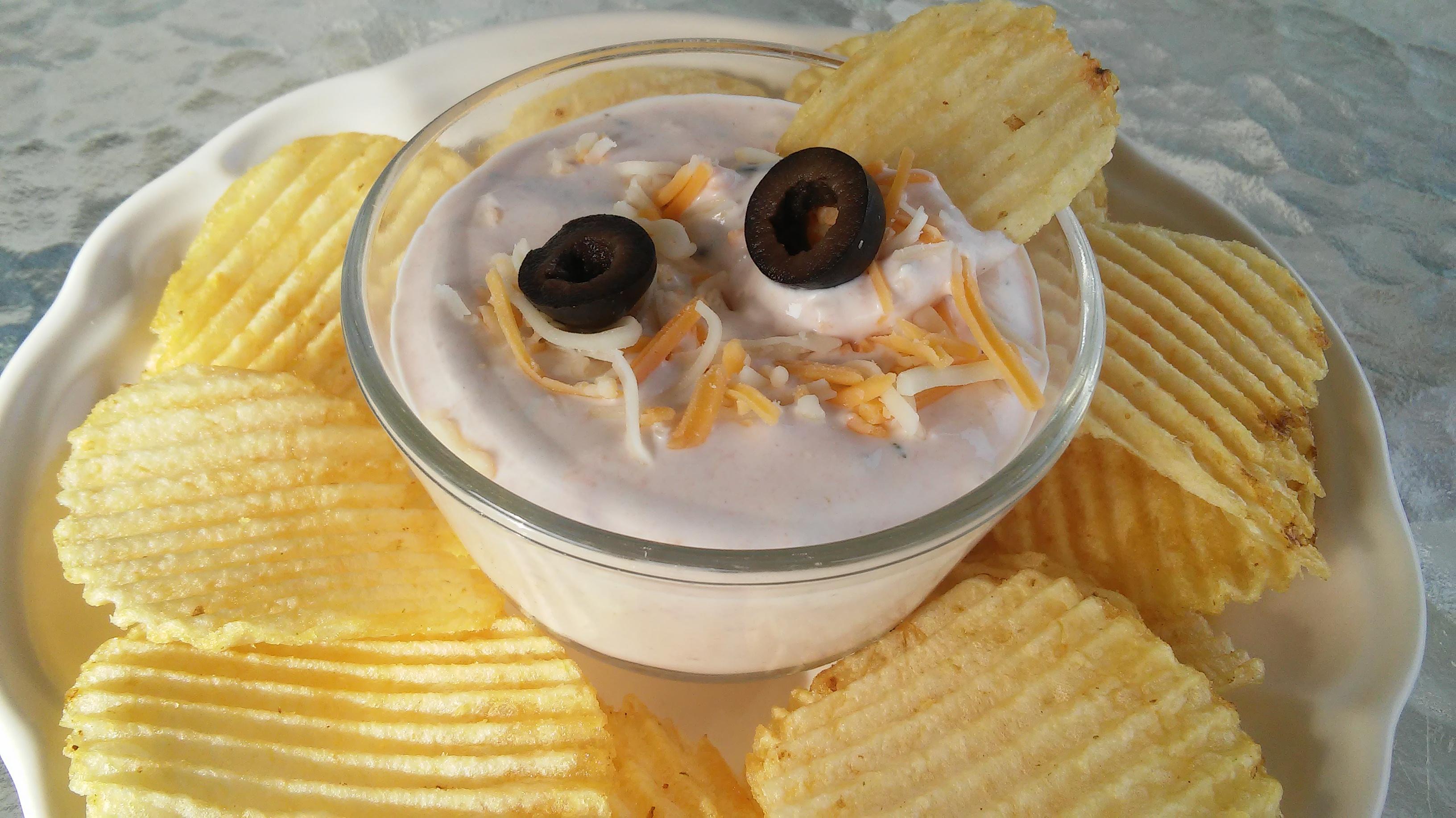 Cheesy Sour Cream and Salsa Dip Tammy Lynn