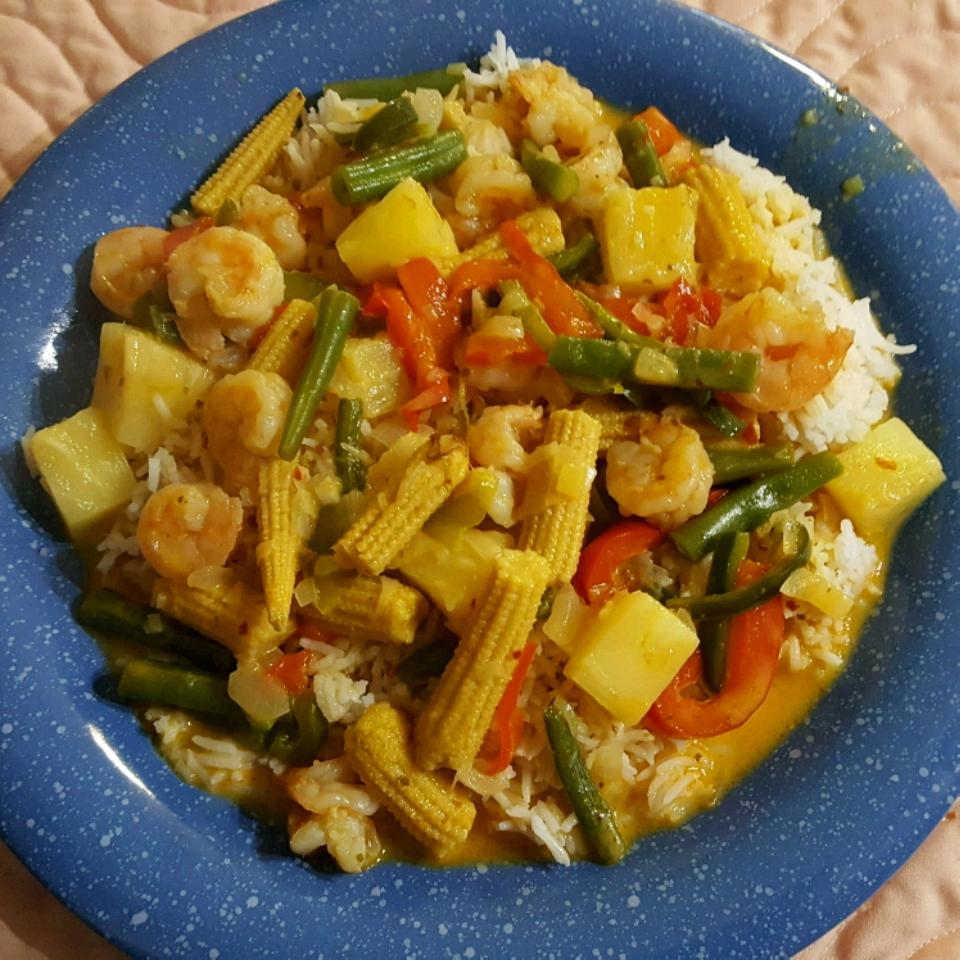 Thai Pineapple Shrimp Curry Ed3366