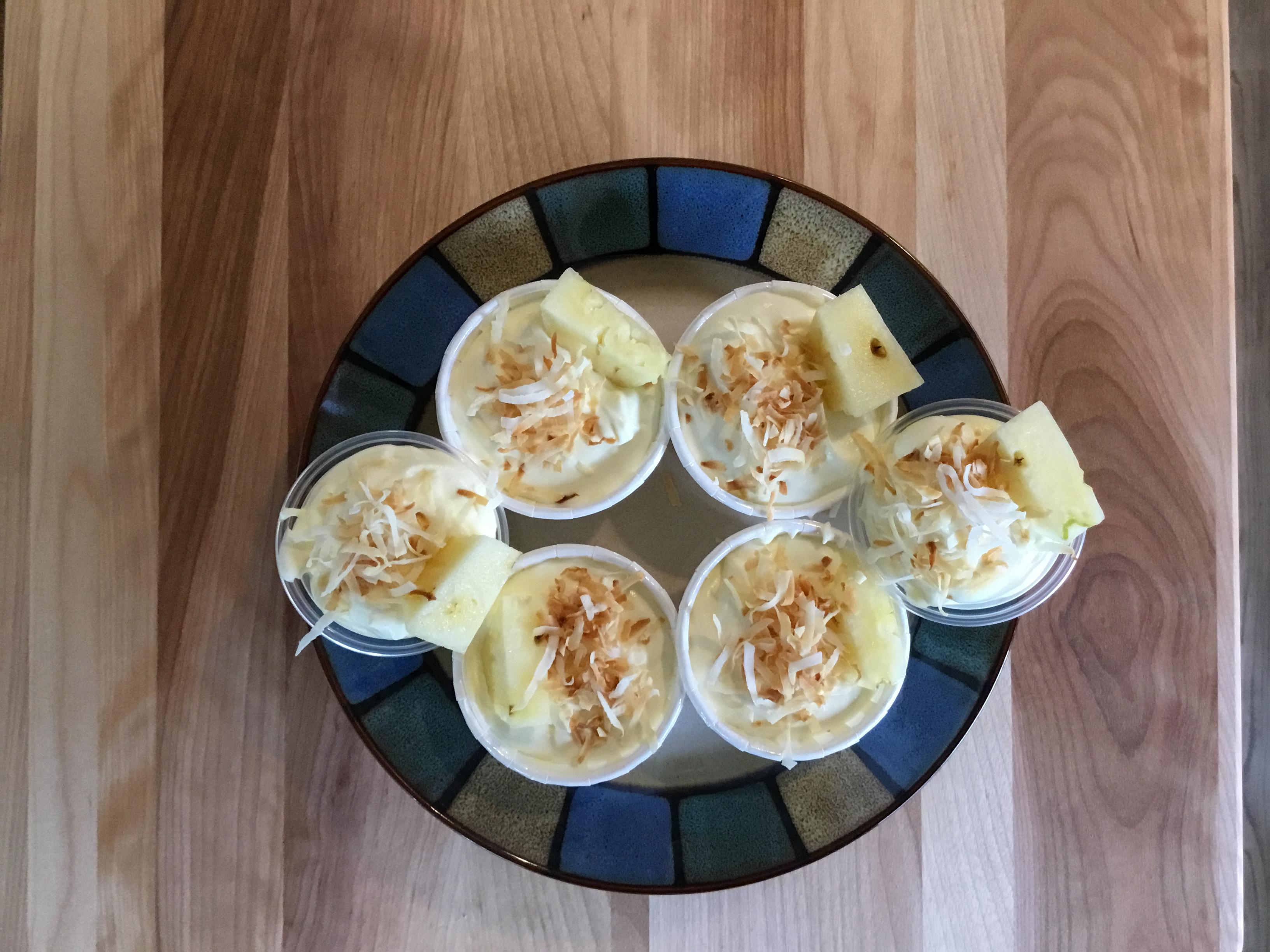 Pina Colada Pudding Shots! Lisa