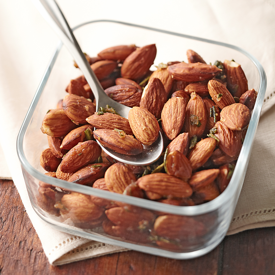 Make a double or triple batch of these savory nuts to give them as gifts for the holidays.