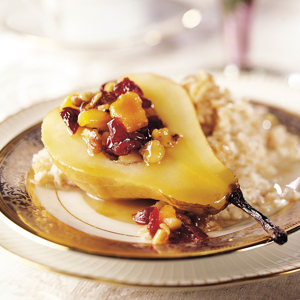 Maple-Glazed Pears and Cereal Trusted Brands