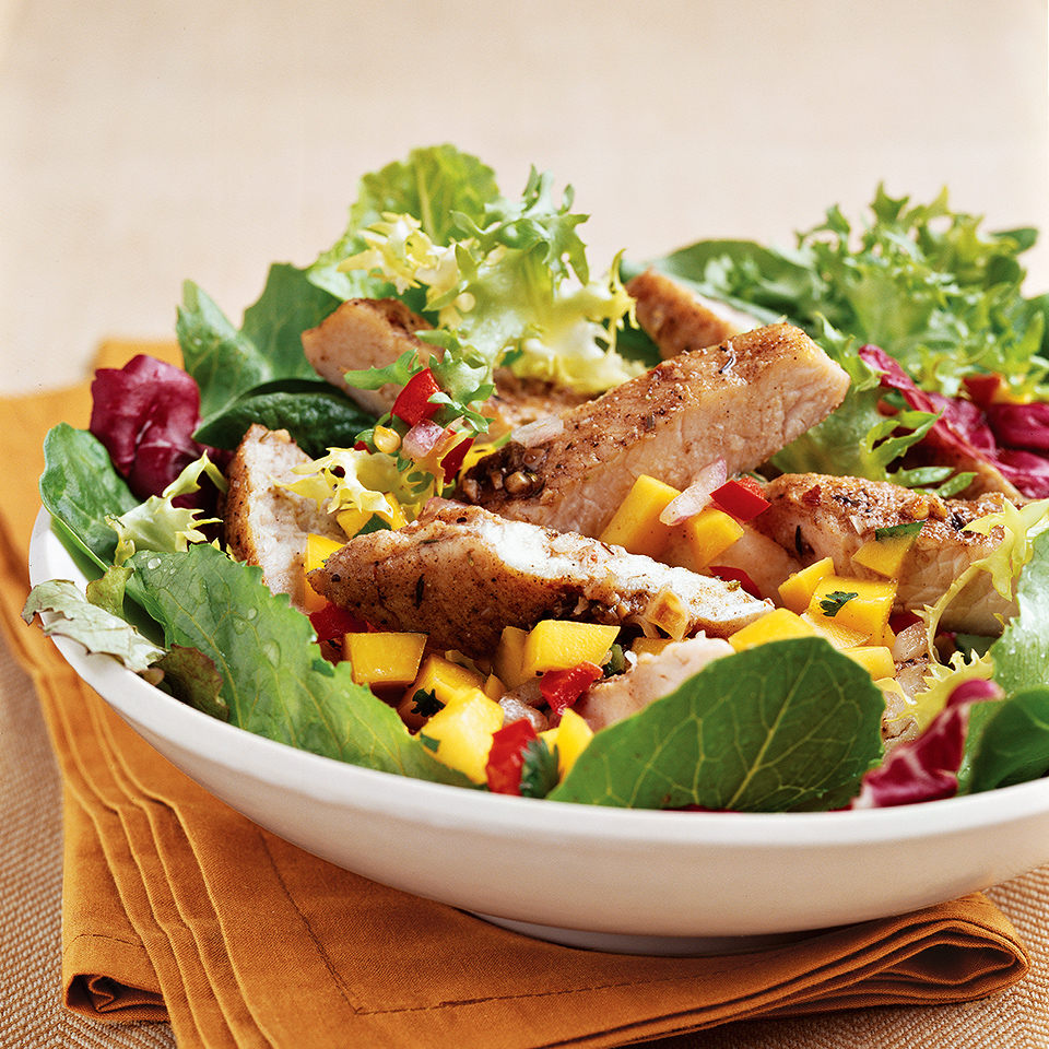 Spiced Jerk Turkey with Mango Salsa Allrecipes Trusted Brands