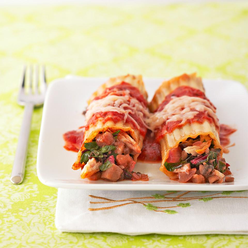 Chicken and Mushroom Manicotti Diabetic Living Magazine