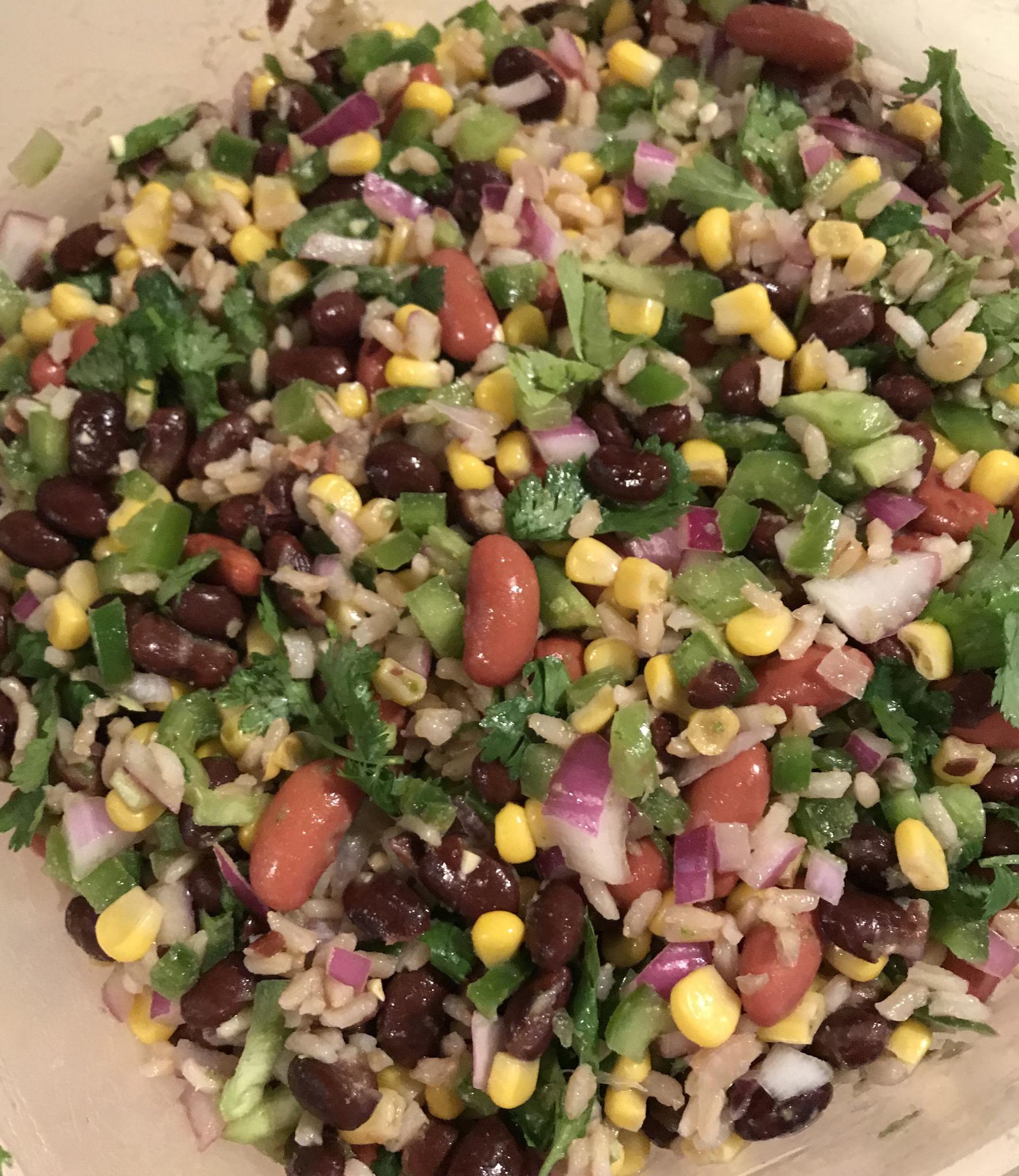 Mexican Bean and Rice Salad Anna