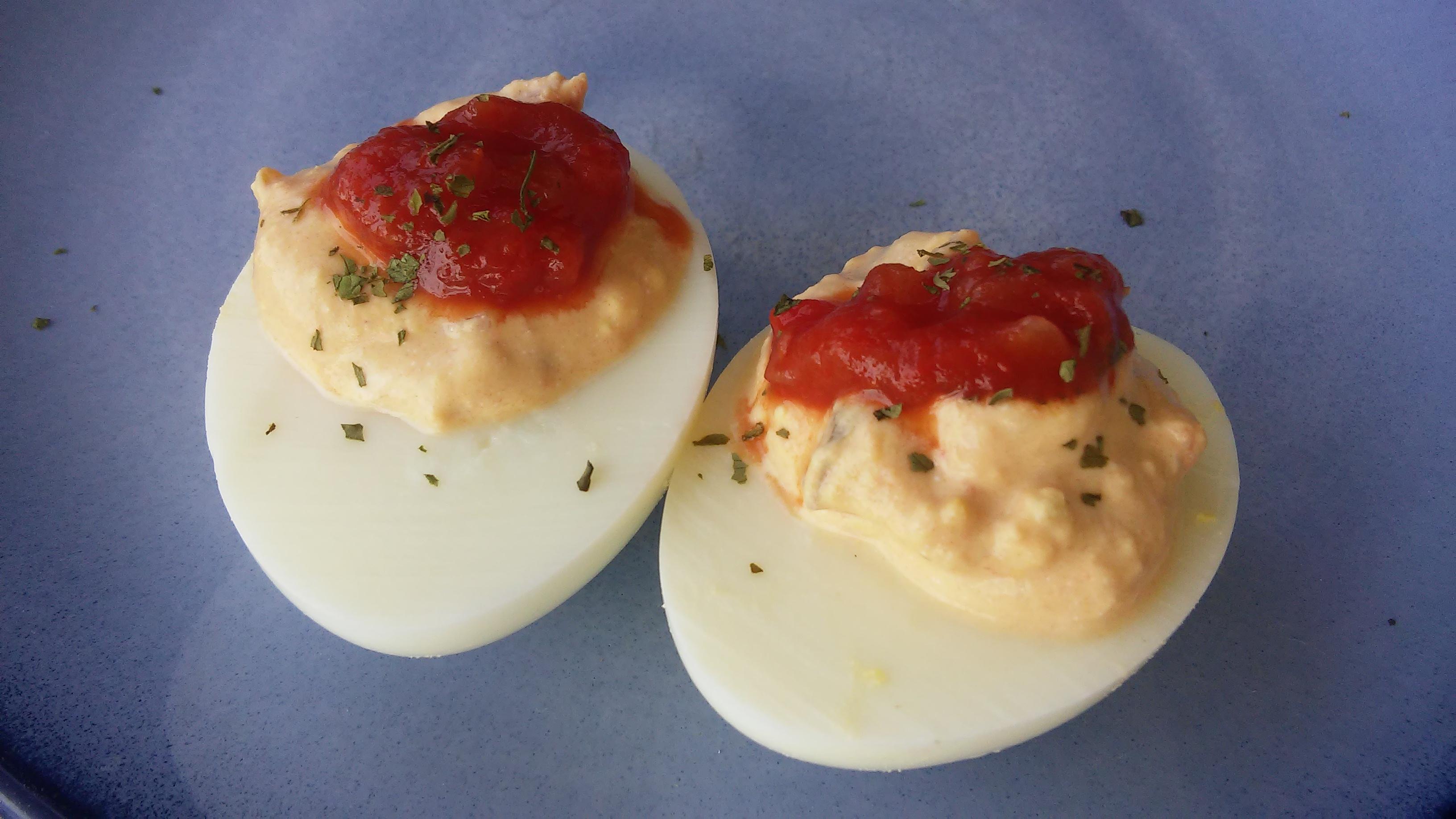 Salsa Deviled Eggs Tammy Lynn