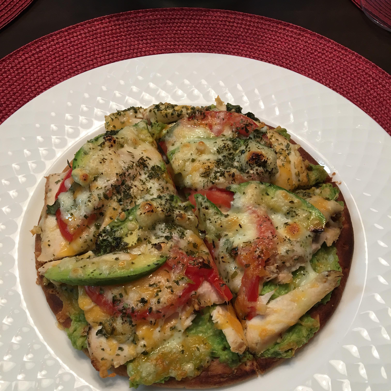 Chicken Avocado Pizza ladycook
