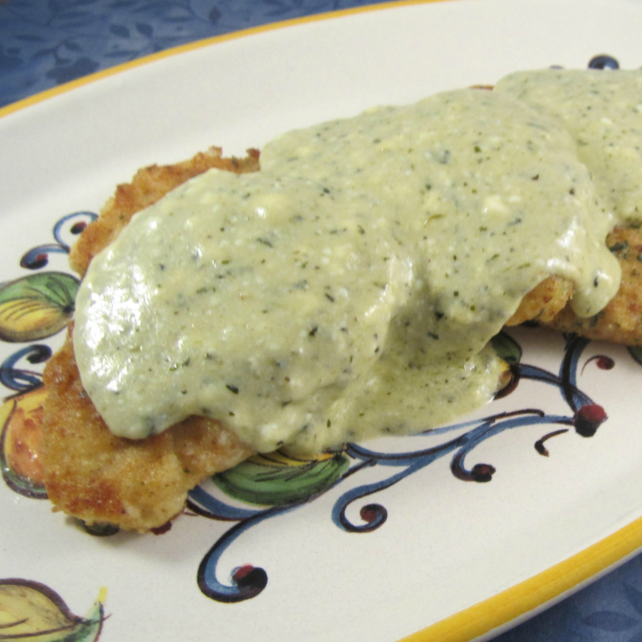 Creamy PHILLY Pesto Chicken Deb C