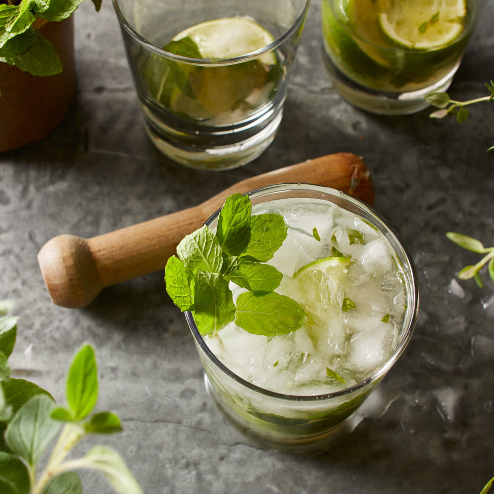 Fresh mint and zesty lime combine to create a flavor base for this classic rum cocktail. We use superfine sugar to ensure it all dissolves for the smoothest refreshing mojito. Source: EatingWell.com, May 2018