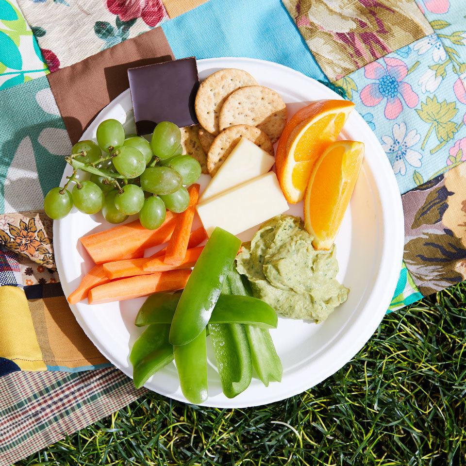 This healthy fruit, veggie and cheese plate is easy and affordable to pull together for a fun snack-style dinner at home or can be packed up and enjoyed as an outdoor picnic. Source: EatingWell.com, May 2018