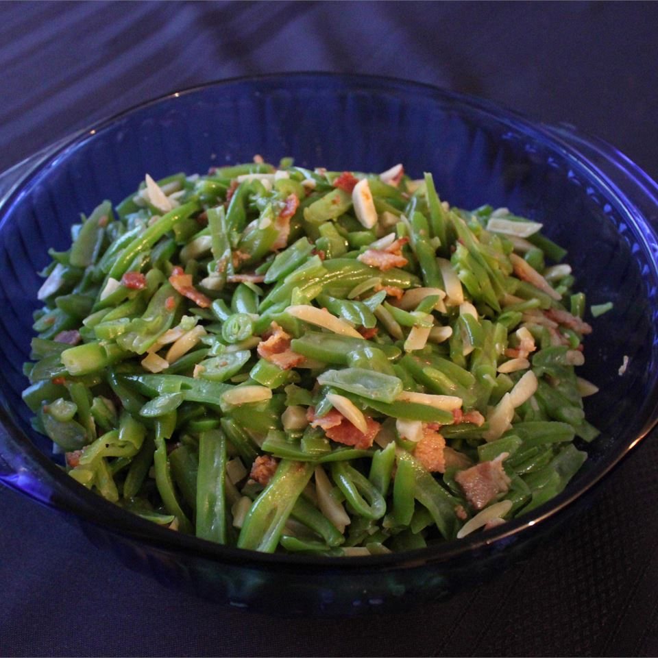 Bacon adds a rich smokiness and slivered almonds contribute crunch in this simple green bean side dish. If you're looking for even more flavor, several reviewers recommended adding a little chopped onion or minced garlic.