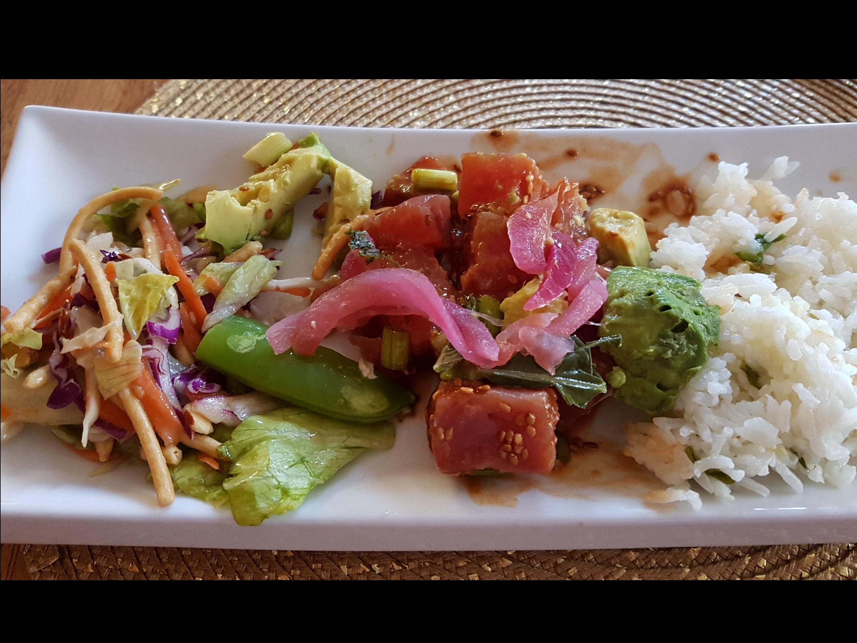 Ahi Poke Salad Allyson