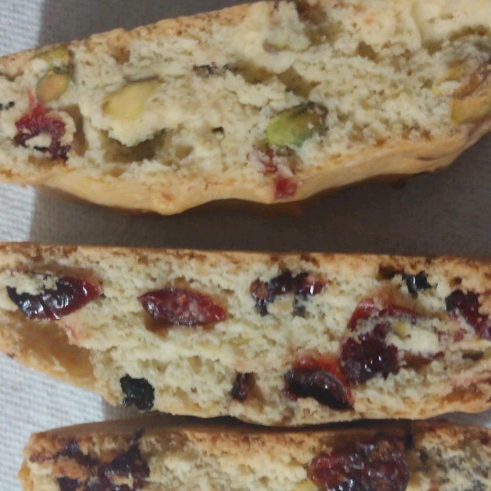 Cranberry Pistachio Biscotti