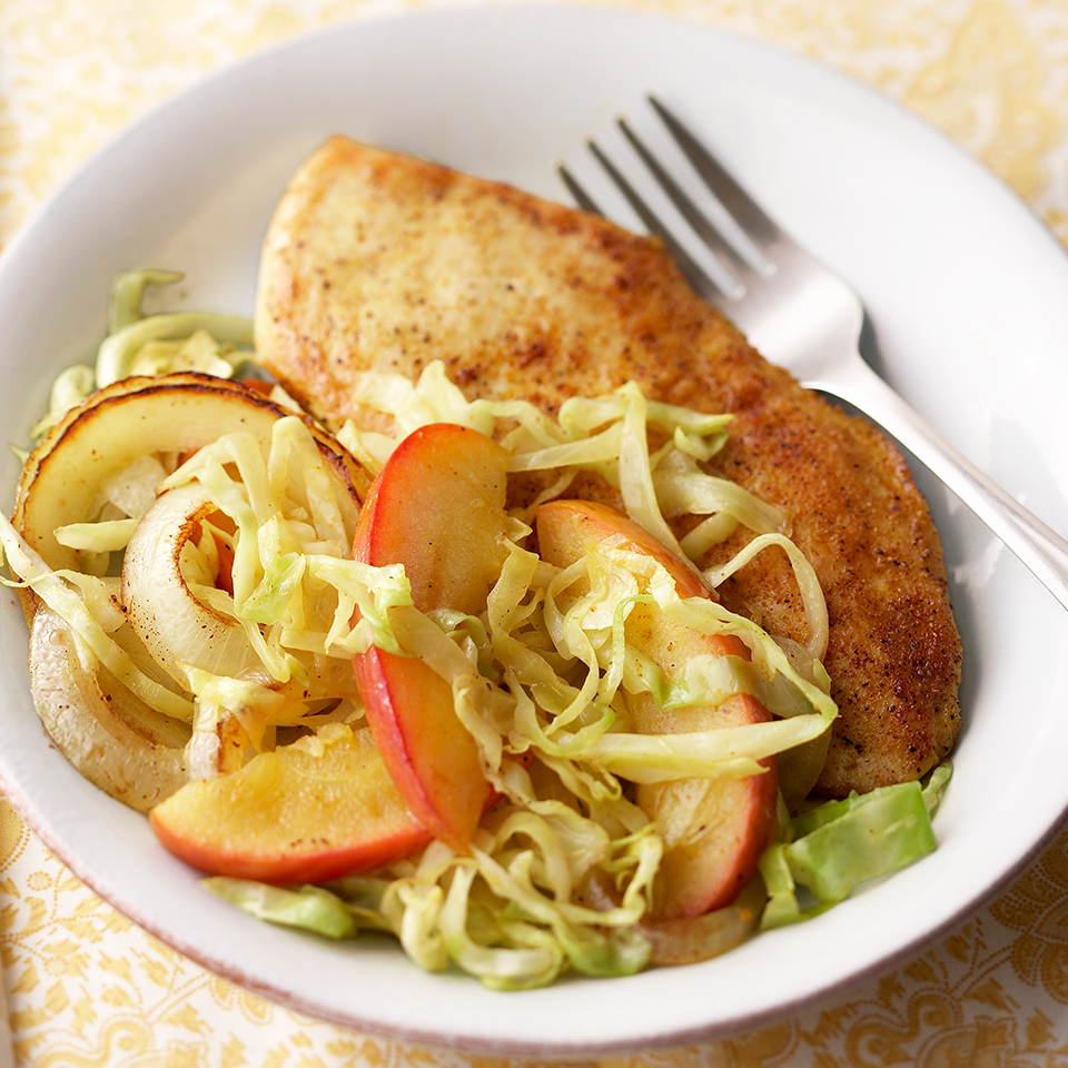 Curried Chicken with Cabbage, Apple and Onion Trusted Brands