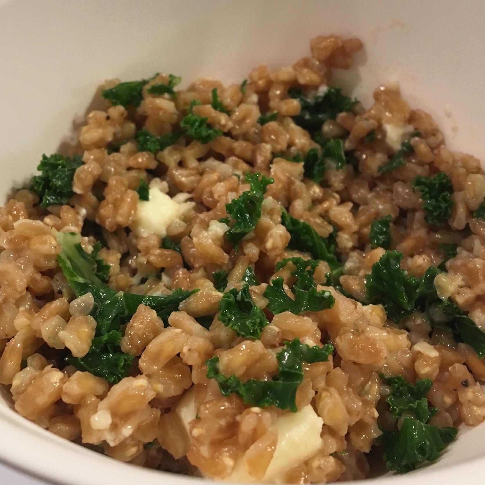 Healthy Warm Farro Salad Ana