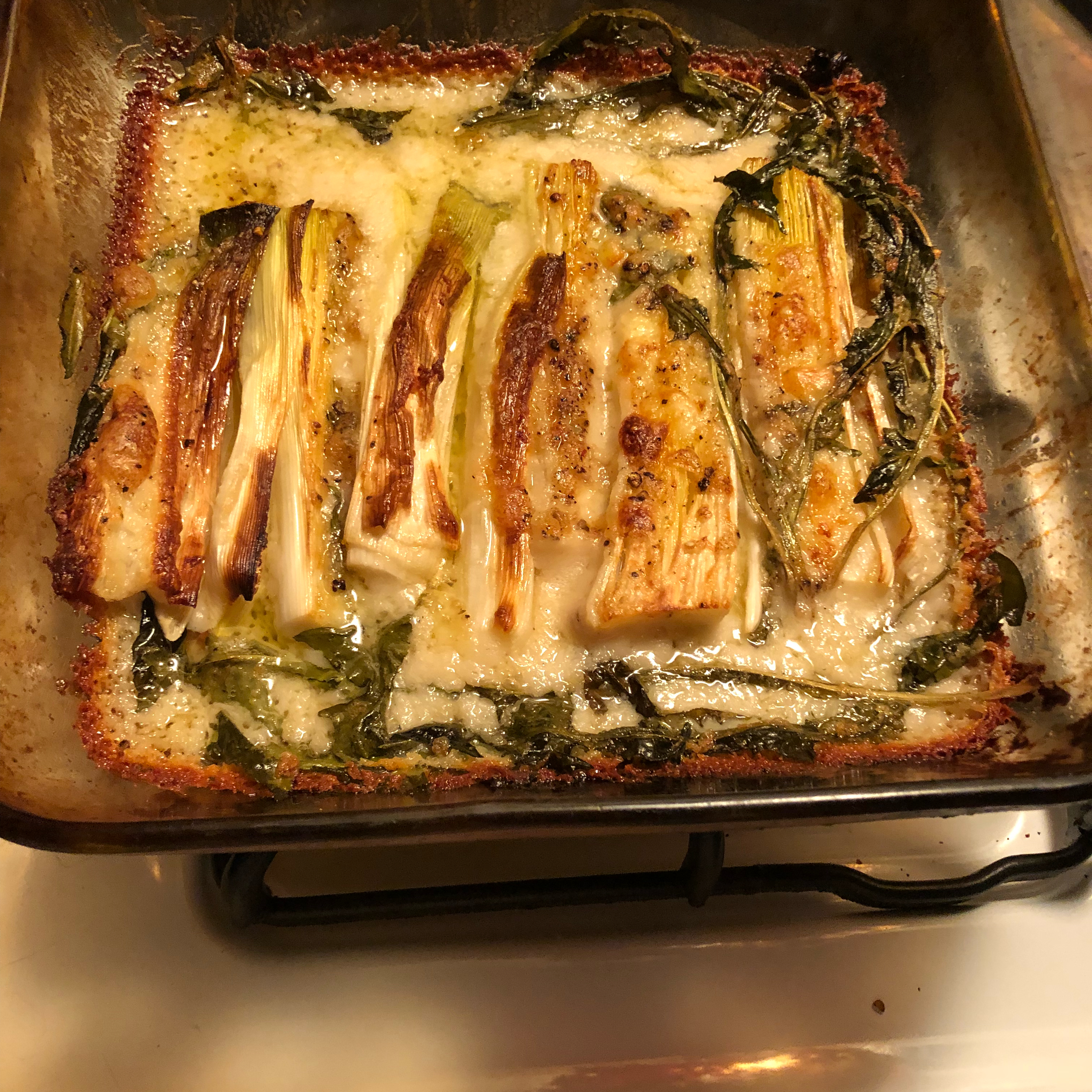 Baked Leeks