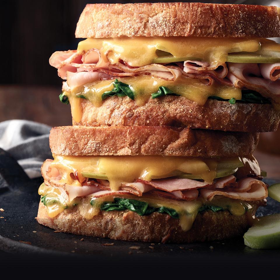 Boar's Head Bold® BourbonRidge™ Uncured Smoked Ham and Gouda Sandwich