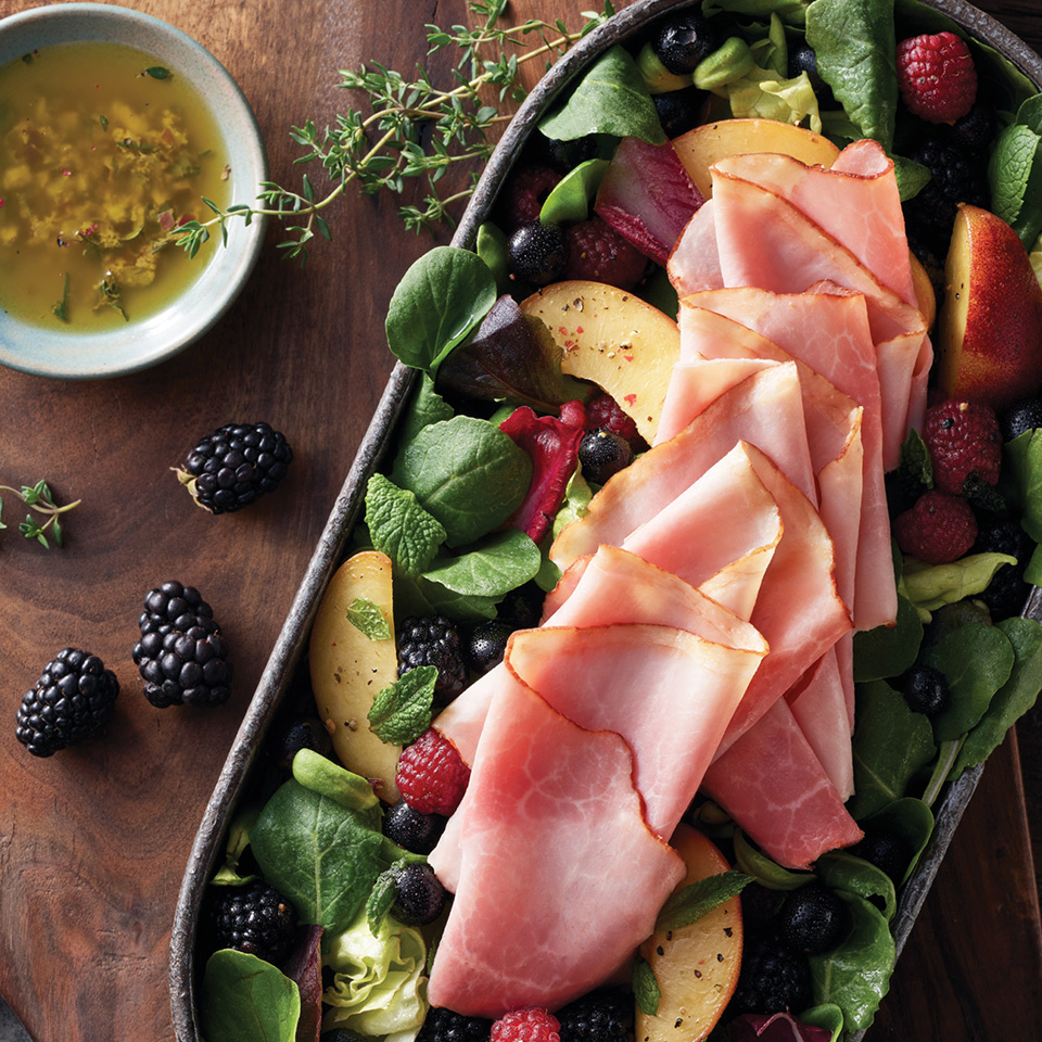 Boar's Head Bold® BourbonRidge™ Uncured Smoked Ham Summer Salad Boar's Head