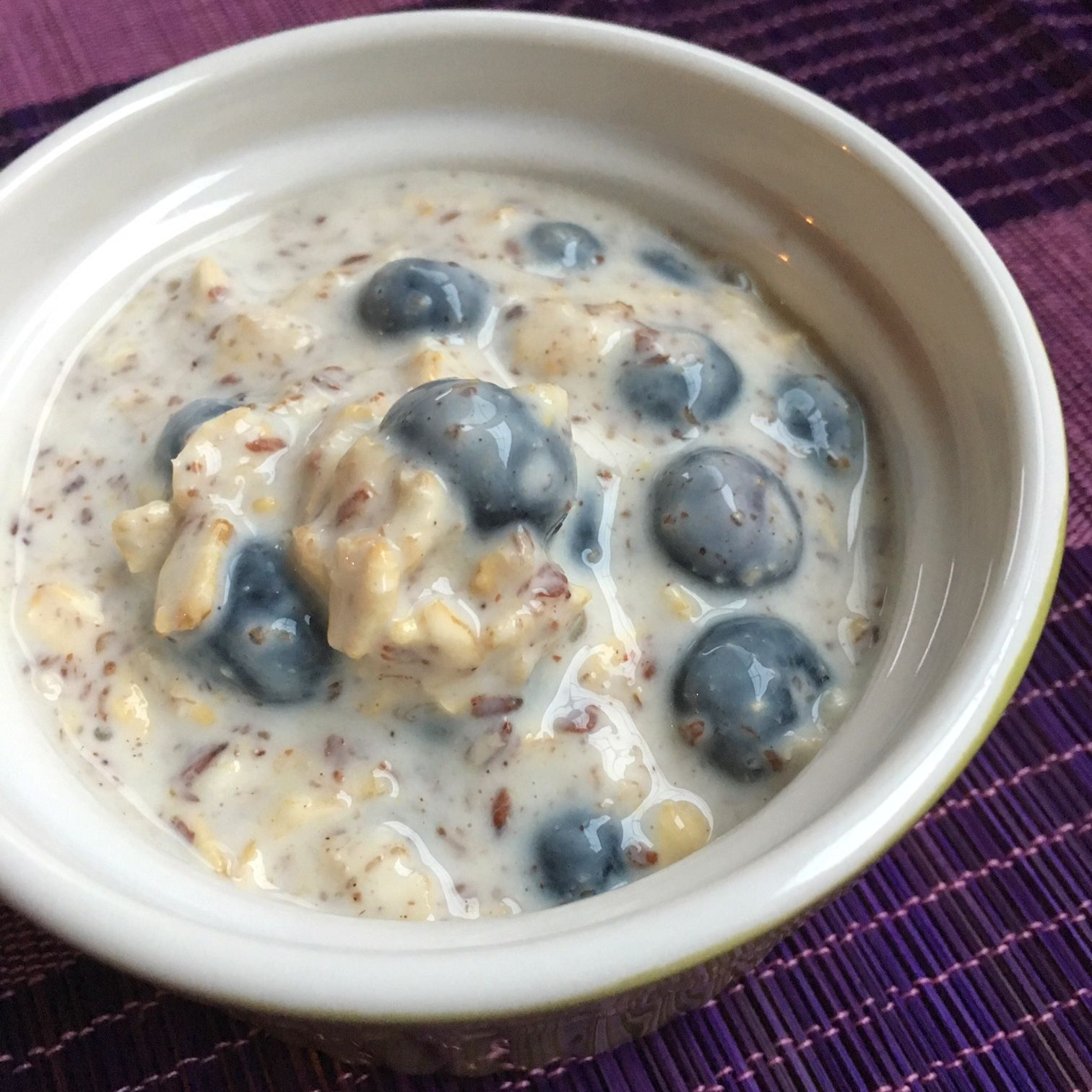 Overnight Oats with Blueberries AllrecipesPhoto