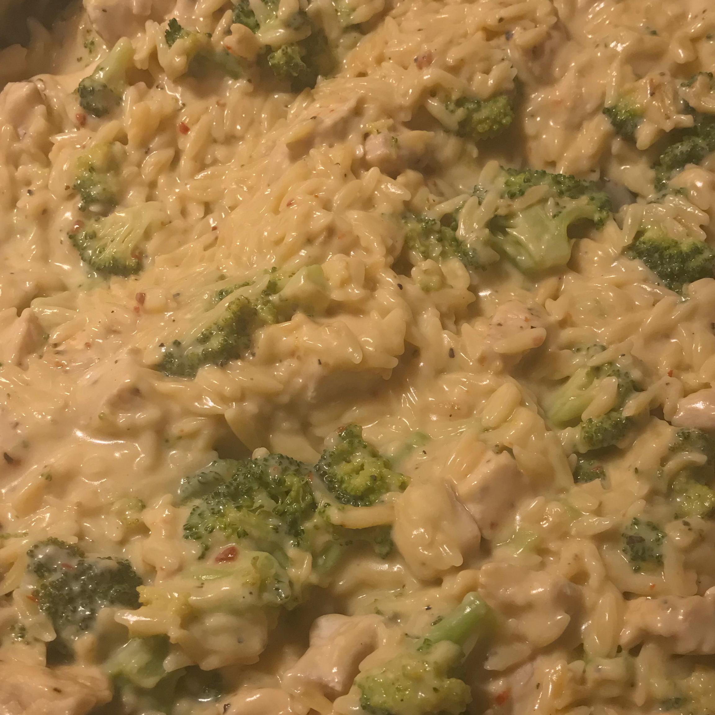 Chicken and Broccoli Alfredo Orzo Tara Maladecki