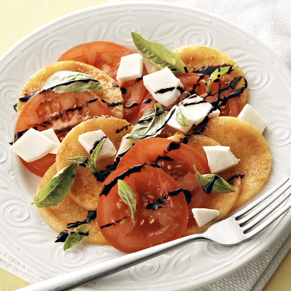The addition of polenta slices adds staying power to this classic flavorful salad.Source: Diabetic Living Magazine