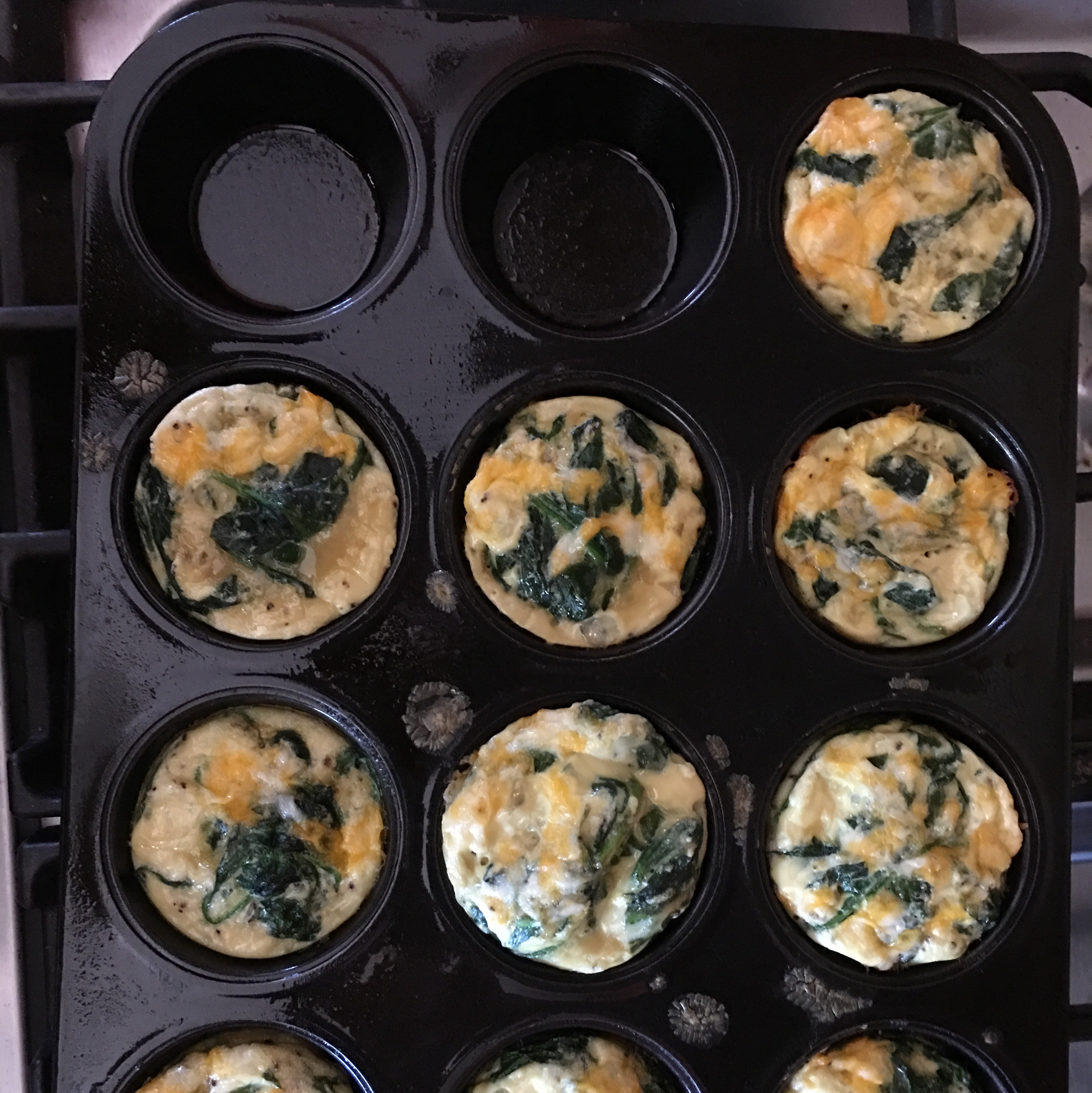 Baked Spinach and Egg White Muffins Jen