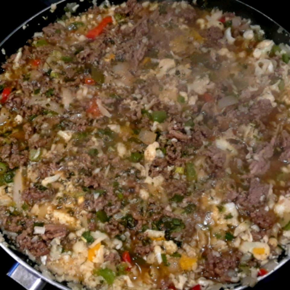 """Cat's Cajun Dirty Cauliflower """"Rice"""" sacha"""