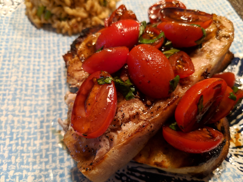 Chef John's Grilled Swordfish Bruschetta