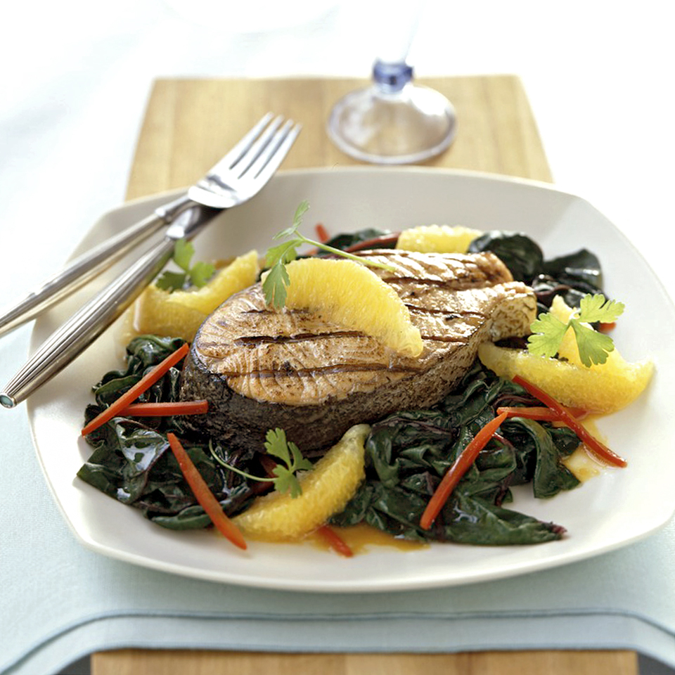 Salmon with Wilted Greens Allrecipes Trusted Brands