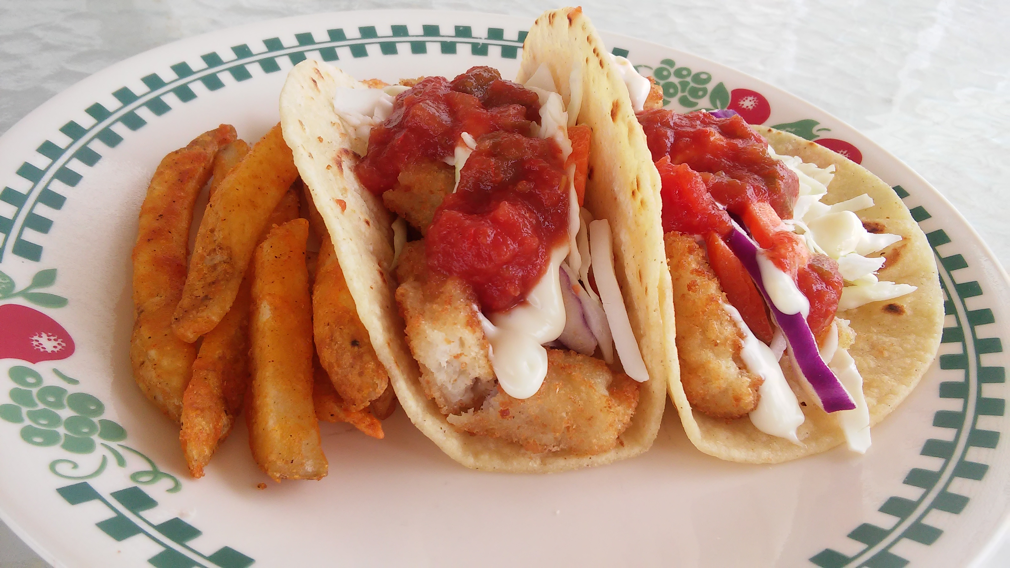 These simple, no-mess fish tacos are perfect for anyone (not just beginner cooks) who hates the mess of battering and frying fish. The secret is crispy fish sticks! You'll fill warmed corn tortillas with crispy fish sticks and cabbage, and top with tartar sauce and salsa.
